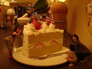巨大なタオルでできたケーキ