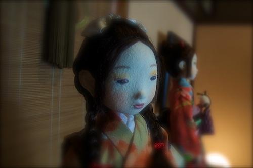 加工した人形写真